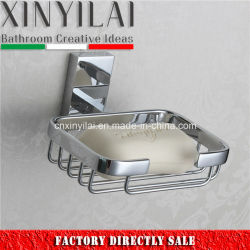 2017 Modern Square Wall Mount Brass Wire Soap Dish
