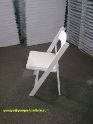 White Resin Folding Chair for Outdoor Wedding
