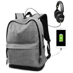 Promotional Stylish Multifunction Sport Leisure Computer Laptop School Backpack Bag for Student and Daily Use with USB Charge