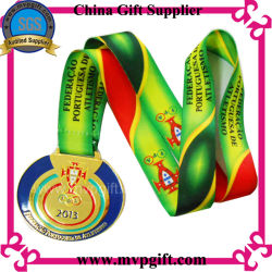 Metal Silver 3D Marathon Sports Medal with Customized Design