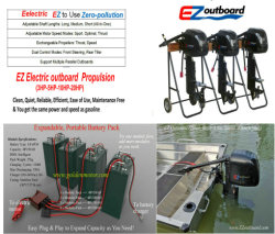 Golden Motor Electric Propulsion, New Ez Electric Outboard Motor
