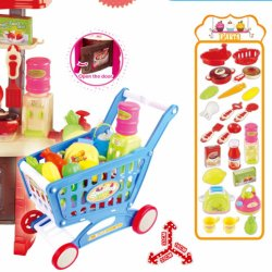 Pretend Play Toy Kids Kitchen Set Cuttable Food