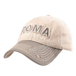93ad508f Custom Washed Distressed Applique embroidery Fitting Sport Golf Cotton Cap
