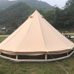 Wholesale Camping Family Caravan Large Luxury Glamping House Tipi Bell Military Tent