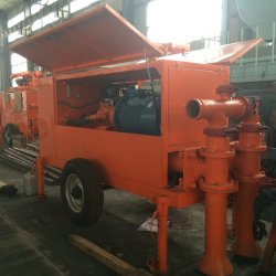 Foam Concrete Block Casting Hydraulic Concrete Pump