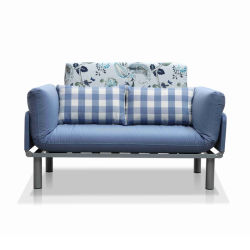 Multi-Purpose Wrought Iron Sofa Bed with Soft Cushion