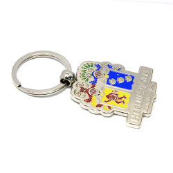 China Factory Custom House Shape Metal Keychain /Key Tag/Key Holder