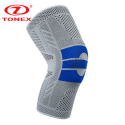 Circle Knitted Steel Springs Stays Breathable Knee Brace for Pain Relief