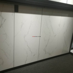 Matt Finished Marble Look Porcelain Flooring Tiles for Bathroom Design