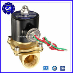 2W 2/2 Way Pneumatic 2 Inch Brass Solenoid Valve 24V Air Water Solenoid Valves