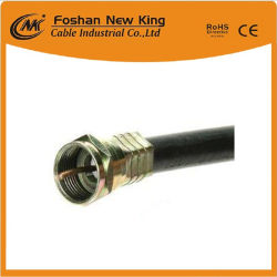 Factory Quality Guaranteed RG6 Coaxial Cable Used for CATV, CCTV and Sat TV with F Connector