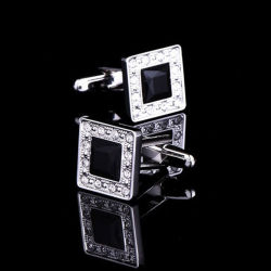 Fashion Diamond Elegant Man Business Gift Cuff Links
