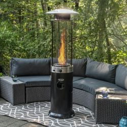 Outdoor Garden Spiral Flame Propane Standing Patio Heater