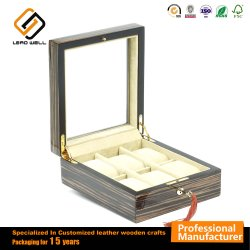 Wooden High Gloss Painting   6 Watch Box with Lock Key