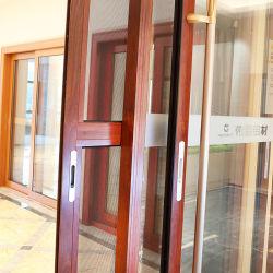 Luxury Heavy Duty Aluminum Frame Triple-Track Sliding Double-Glass Door with Fly Screen