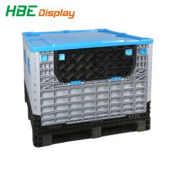 Collapsible Storage Crate Bins Folding Plastic Pallet Box Container