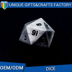 Antique Gift Logo Customize Metal Dice