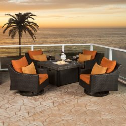 Well Furnir Rattan 5 Piece Deep Seating Group with Cushion WF-17003