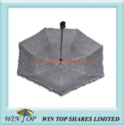 "21"" Full Auto Open Leopard Umbrella"