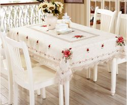 Hemstitch Linen Table Cover 2017 New Design