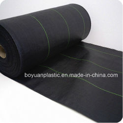 Black PE Woven Ground Cover Weed Mat with Long Working Life