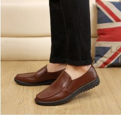 2017 New PU Round Shoes Men's Daily Wear Shoes Business Casual Shoes Wholesale