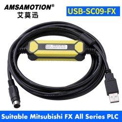 USB-Sc09-Fx Suitable Mitsubishi PLC Programming Cable Fx0n Fx1n Fx2n Fx0s Fx1s Fx3u Fx3g Series Communication Cable