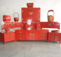 Antique Furniture Chinese Red Buffet