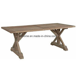 Country Style Rectangular White Used Wooden Dining Table (AF-120)