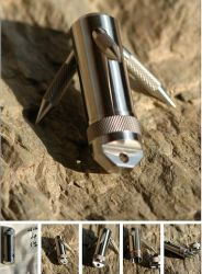Titanium Gr5 Waterproof Multi Function Pill Box Container Capsule Survival Outdoor Gear Grappling Hook
