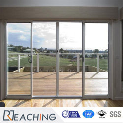 Modern Design Aluminum Sound Proof Double Glass Sliding Door With  Competitive Price