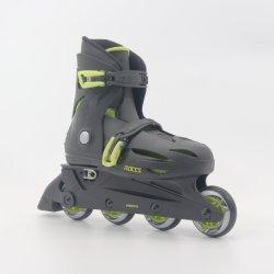 Black Adjustable Kids Inline Skates En13843: 2009