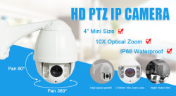 2MP 30X 150m IR High Speed Dome IP PTZ Camera for Metro House Factory Security Protection