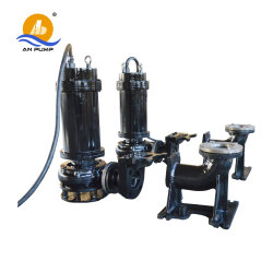 High Chromium Alloy Vertical Submersible Slurry Pump with Cutter