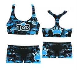 China Manufacure Made High Quality Quick Dry Cheerleading Sports Bra