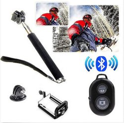 Selfie Wink Monopod Extendable Handheld Holder Bluetooth Remote Control
