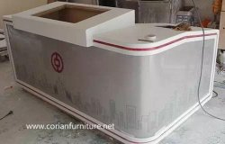 Office Furniture Made by Solid Surface Acrylic Surface for Bank