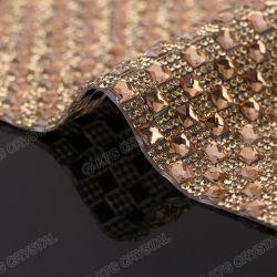 Wholesale Glass Hot Fix Crystal Rhinestone Diamond Mesh Roll for Garment