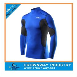 Men's Blue Compression Athletic Running Gear with Custom Logo