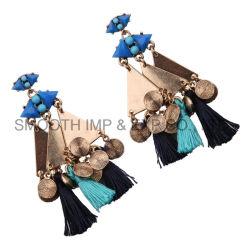 Vintage Triangle Metal Bohemia Tassels Earrings Diamond Jewelry Accessories Gift
