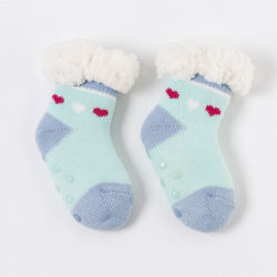 Kids Toddler Christmas Slipper Socks Xmas Stocking Cotton Hosiery