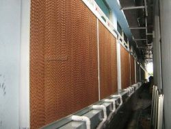 Greenhouse Poultry Farm Cellulose Wer Curtain Honey Comb Evaporative Cooling Pad
