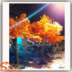 Guangzhou Wholesale Fiberglass Artificial Fake Maple Tree