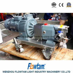 Sanitary Inox Fruit Slurry Pump Lobe Rotor Pump