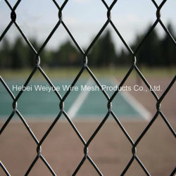 PVC Coated Chain Link Fence Farm Fencing Wrought Iron Gate