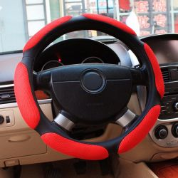 Universal Car Steering Wheel Cover 38cm 3D Car Styling Handlebar Braid Covers Sport Breathable Skid-Proof Car Accessories