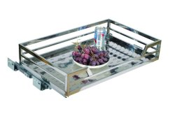 Kt-3002A Stainless Steel Tube Drawer Basket (Plastic Joint)