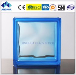 High Quality Best Price Building Color Cloudy Blue Glass Block