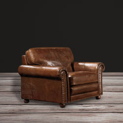 Home Furniture Full Grain Leather Sofa