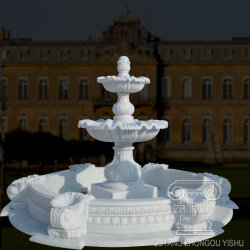 Nature Marble Stone Carving Garden Decorative Statue Water Fountain